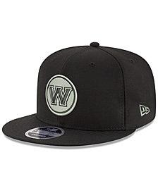 New Era Golden State Warriors Black on Shine 9FIFTY Snapback Cap
