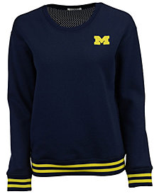 NUYU Women's Michigan Wolverines Mesh Back Sweatshirt