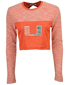 Women's Miami Hurricanes Terry Crop Top