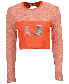 NUYU Women's Miami Hurricanes Terry Crop Top