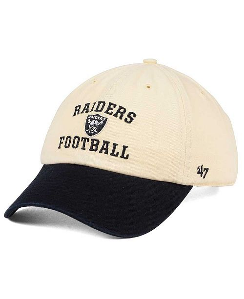Oakland Raiders Steady Two-Tone CLEAN UP Cap