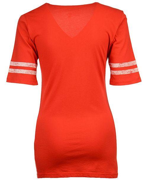 timeless design b9997 4e25c Women's Detroit Red Wings Vintage Sleeve Stripe T-Shirt