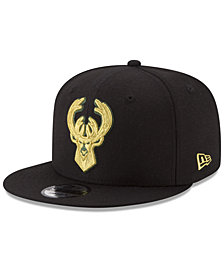 New Era Milwaukee Bucks Gold on Team 9FIFTY Snapback Cap