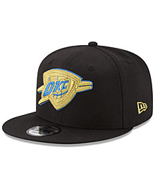 New Era Oklahoma City Thunder Gold on Team 9FIFTY Snapback Cap