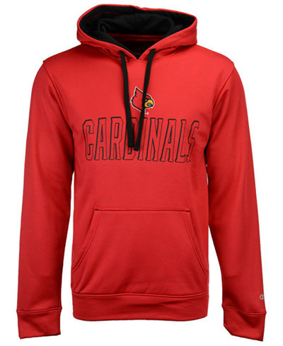Champion Men's Louisville Cardinals T-Formation Poly Hoodie
