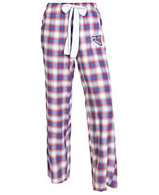 College Concepts Women's New York Rangers Forge Flannel Pants