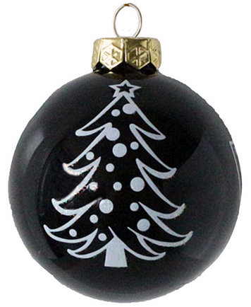 Memory Company Oakland Raiders Glass Christmas Tree Ornament