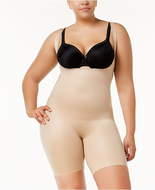 d62431a09 ... SPANX Plus Size Power Conceal-Her Open-Bust Mid-Thigh Bodysuit 10133P  ...