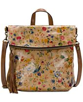 Patricia Nash Burnished Tooled Luzille Small Convertible Backpack
