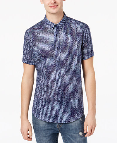 American Rag Men's Scattered Triangles Shirt, Created for Macy's