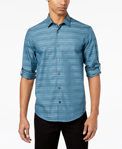 Alfani Men's James Striped Shirt, Created for Macy's