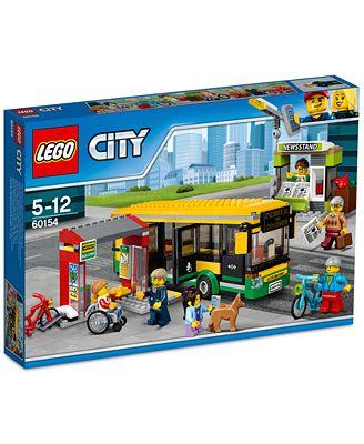 LEGO® City 337-Pc. Town Bus Station Set - Toys & Games - Kids ...