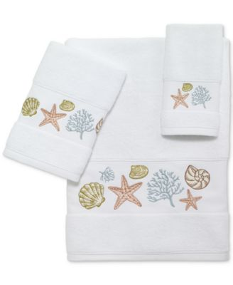 Grover Beach Cotton Embroidered Bath Towel
