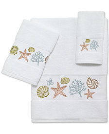 Avanti Grover Beach Cotton Embroidered Bath Towels