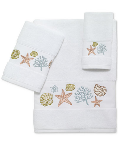 Avanti Grover Beach Cotton Embroidered Bath Towels