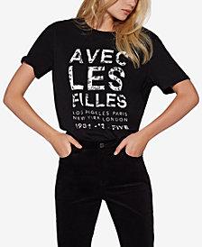 Avec Les Filles Cotton Avec Band Graphic T-Shirt