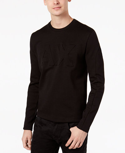 Armani Exchange Men's Embossed Logo Sweater