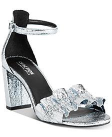 Kenneth Cole Reaction Women's Rise Ruffle Block-Heel Sandals