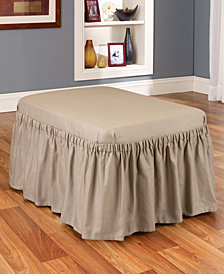 Sure Fit Duck 1-Piece Ottoman Slipcover