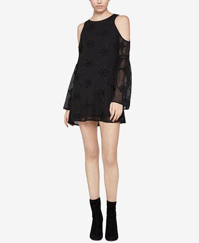 BCBGeneration Cold-Shoulder A-Line Dress