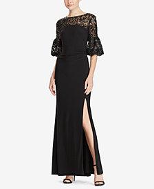 Lauren Ralph Lauren Floral-Sequin Gown