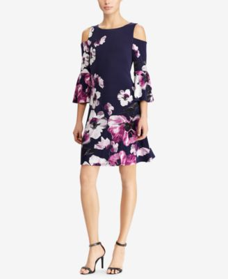 Lauren Ralph Lauren Bell Sleeve Jersey Dress Dresses