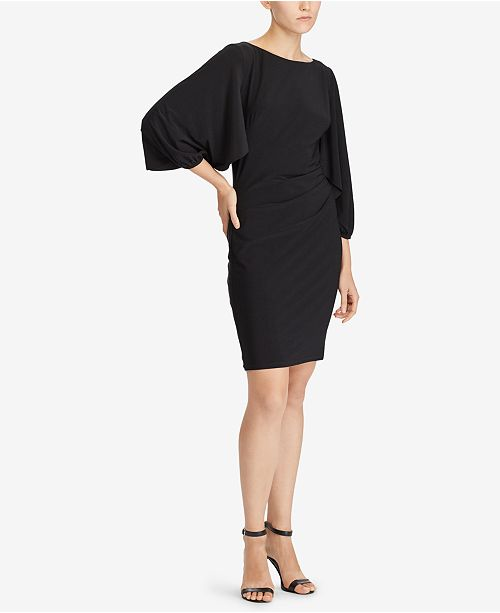 regular waist and with adrianna keyhole back papell dress embellished drapes draped jersey