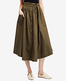 Free People Dream Of Me Cotton Midi Skirt