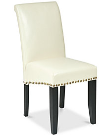 Kennia Dining Chair with Nailhead Trim, Quick Ship