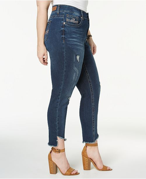 c9dfe7c8aa4 Seven7 Jeans Trendy Plus Size Ripped Skinny Jeans   Reviews - Jeans ...