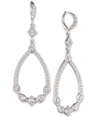 finest selection 28cfe 96f58 Givenchy Silver-Tone Crystal Open Drop Earrings