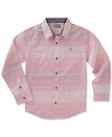 Calvin Klein Horizontal Stripe Shirt, Big Boys