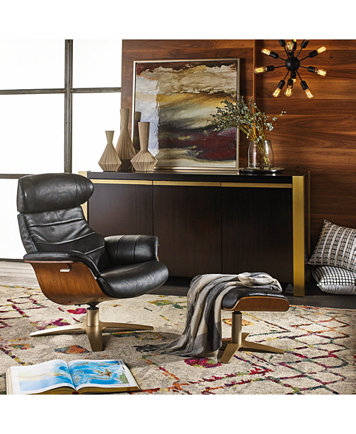 leather swivel chair living room. Annaldo Leather Swivel Chair  Furniture Macy s