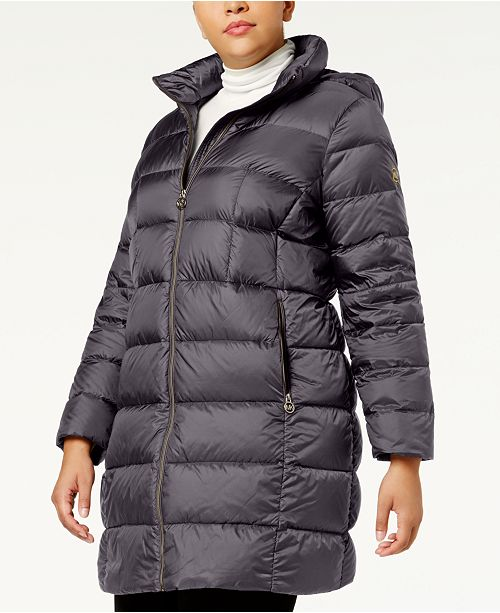 b308ec70b66 Michael Kors Plus Size Packable Down Puffer Coat   Reviews - Coats ...