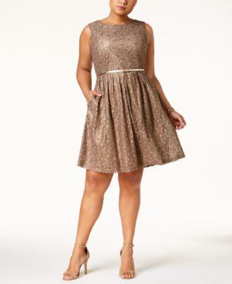 Lace Dress with Belt