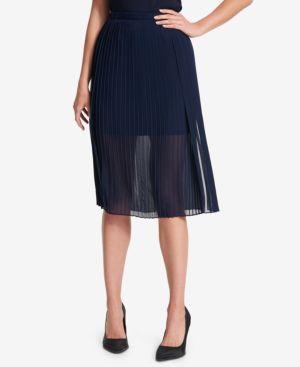 Dkny Sheer Pleated Skirt thumbnail