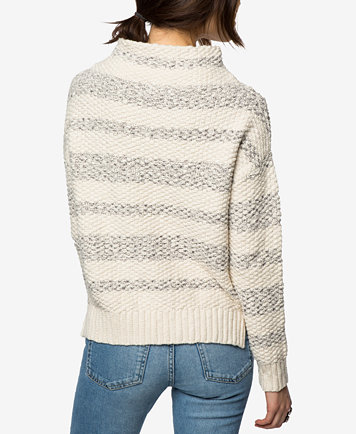 O'Neill Juniors' Cotton Livie Striped Mock-Neck Sweater - Sweaters ...