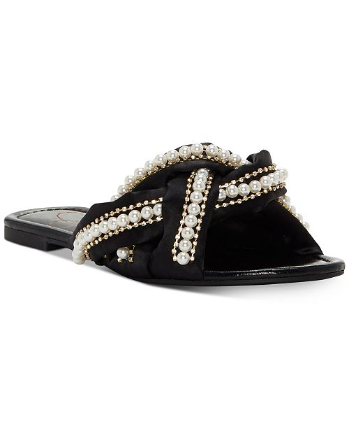 42b9faabe33 Jessica Simpson Rhondalin Braided Flat Sandals   Reviews - Sandals ...