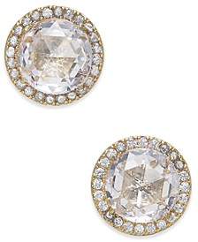 Pavé & Stone Stud Earrings