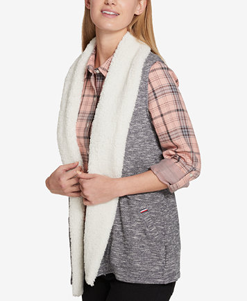 Tommy Hilfiger Fleece-Lined Vest, Created for Macy's - Jackets ...