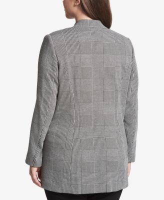 Women's glen plaid jacket