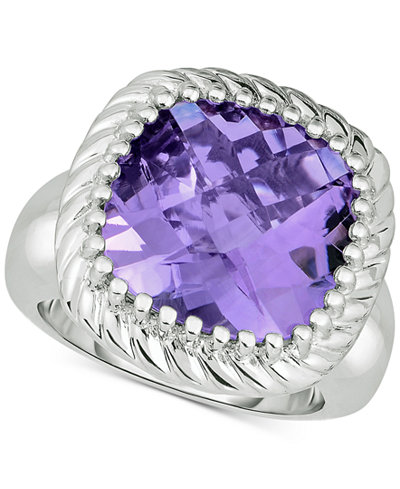 Amethyst Statement Ring (10 ct. t.w.) in Sterling Silver