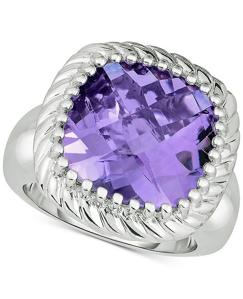 Macy's Amethyst Statement Ring (10 ct. t.w.) in Sterling Silver
