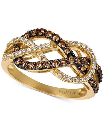 Le Vian Chocolatier 174 Diamond Weave Ring 5 8 Ct T W In