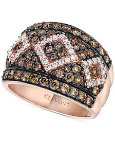 Le Vian Chocolatier® Diamond Statement Ring (1-3/4 ct. t.w.) in 14k Rose Gold