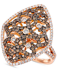 Le Vian Chocolatier® Diamond Filigree Ring (1-1/4 ct. t.w.) in 14k Rose Gold