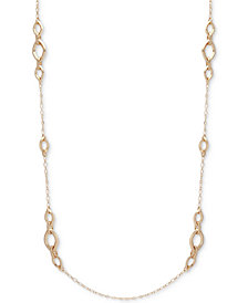 Anne Klein Silver-Tone Crystal Strand Necklace