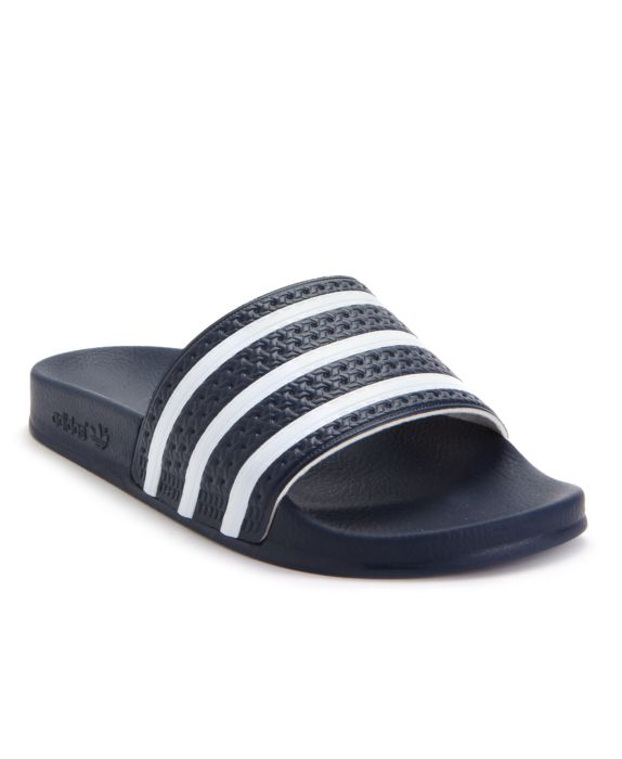 Adidas Mens Adilette Blue / White Ankle-High Sandal - 13M