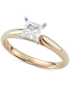 Princess Solitaire Engagement Ring (1/2 ct. t.w.) in 14k White Gold