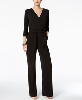 NY Collection Petite Belted Jumpsuit $65